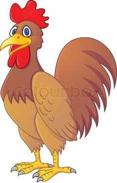 Illustration of Rooster Cartoon vector art, clipart and stock vectors. I Love You Drawings, Art Drawings For Kids, Drawing For Kids, Art For Kids, Happy Cartoon, Cartoon Pics, Cute Cartoon, Cartoon Rooster, Rooster Illustration