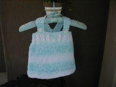 Baby Sun Dress Baby Dress Hand Knit Baby Dress by bonitastewart