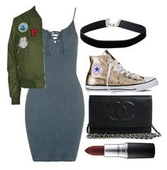 """Untitled #562"" by queenzella ❤ liked on Polyvore featuring Topshop, Miss Selfridge, Converse and MAC Cosmetics"
