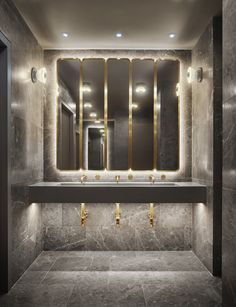 Space Copenhagen selects natural materials for New York's 11 Howard hotel interior Copenhagen Design, Space Copenhagen, Copenhagen Hotel, Restroom Design, Bathroom Interior Design, Commercial Interior Design, Bad Inspiration, Bathroom Inspiration, Bathroom Ideas