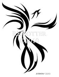 This one is minimal, but I like minimalistic drawings. phoenix black and white - Google Search