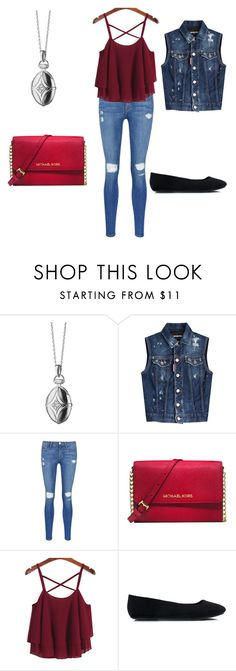 """The Originals Davina St Claire School/Casual Inspired Outfit"" by camemckeith ❤ liked on Polyvore featuring мода, Monica Rich Kosann, Dsquared2, Frame Denim и Michael Kors"