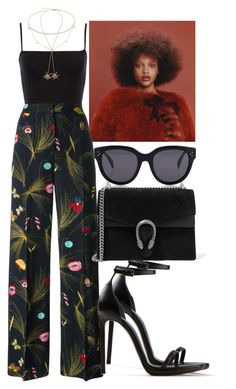 Sem título #2391 by mariandradde on Polyvore featuring Fendi, Yves Saint Laurent, Gucci, Jacquie Aiche, Cartier, Luna Skye and CÉLINE