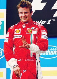 Formula One driver Kimi Raikkonen - gotta  love a driver in uniform
