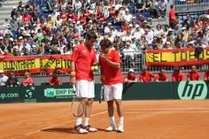 Marc López junto a Marcel Granollers.
