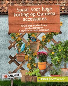 Spaar voor hoge kortingen op Gardena accessoires.