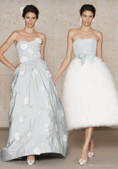 Oscar De La Renta Fall 2011 #dress #gown #blue