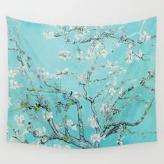 Vincent van Gogh Almond Blossoms Wall Tapestry