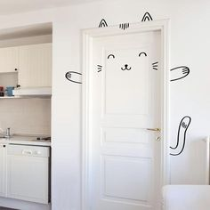 Make your home doors huggably cute and your home fun and unique with our lovable big animal stickers. These guys look great on both plain and panelled doors.