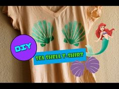 DIY: Mermaid Sea Shell Printed T-Shirt - YouTube
