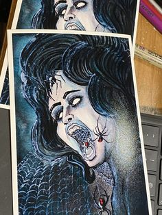 Excited to share this item from my shop: Spider Woman PRINTS #goth #horrorgifts #horrorpinup #spiders