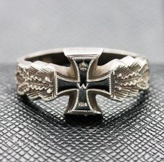 GERMAN RING 1914 IMPERIAL SILVER PATRIOTIC WITH IRON CROSS http://antiq24.com/product/german-ring-1914-imperial-silver-patriotic-with-iron-cross/