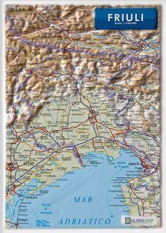 Serie:  Carte in rilievo formato A4 Scala:  1:700.000 Formato:  21 x 29,7 cm