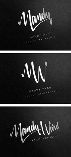 mandy ward visual identity.