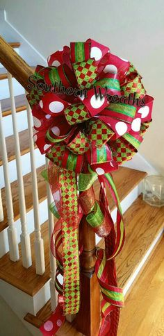 Check out this item in my Etsy shop https://www.etsy.com/listing/466278363/christmas-tree-topper-tree-bow-large-red