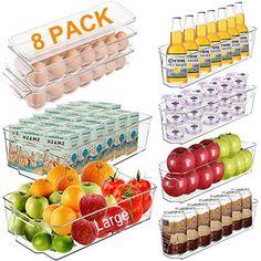 Fridge Organisers, Fridge Storage, Refrigerator Organization, Container Organization, Kitchen Organization, Storage Organization, Refrigerator Freezer, Airtight Food Storage Containers, Kitchen Containers