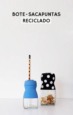 ¡Bote sacapuntas reciclando un tarro vacío! #diy #tutorial #bote #tarro #reciclar #upcycling