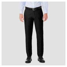 Haggar H26¤ Men's Performance 4 Way Stretch Slim Fit Trouser Pants - Black 30x30