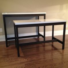 Bar Table And Desk   Using IKEA Table Tops (VIKA AMON)