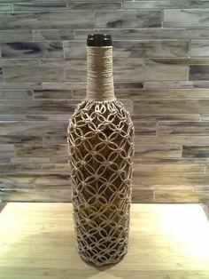 macrame wine bottle cover | Misc things i made | Pinterest ...