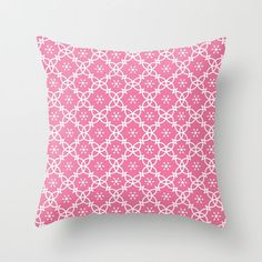 Pink Pillow Cover, Pink and White, Feminine Pillow, Pink Throw Pillow, Pillow Sham, Camille, Girls Room, Romantic Pillow, Elegant, Modern by peppermintcreek. Explore more products on http://peppermintcreek.etsy.com