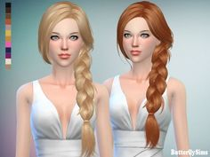 Butterflysims: B-flysims hair af 160 JO – No hat • Sims 4 Downloads