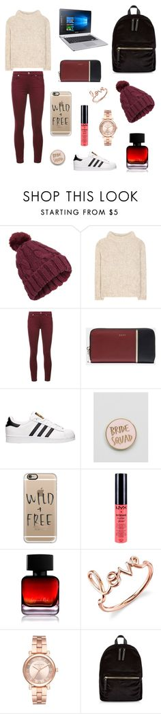 """""""Untitled #45"""" by alleesh ❤ liked on Polyvore featuring Miss Selfridge, Tom Ford, 7 For All Mankind, DKNY, adidas, ASOS, Casetify, NYX, The Collection by Phuong Dang and Sydney Evan"""