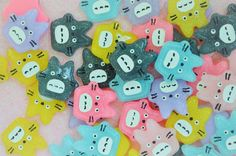 27mm Kawaii Pastel Glitter Totoro Flatback by DarlingDollCharm