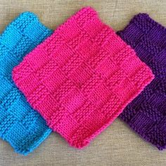 Beginner Basketweave Dishcloth | AllFreeKnitting.com