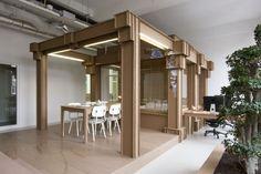 MADE ENTIRELY OF CARDBOARD.   Cardboard Office Interior by Alrik Koudenburg and Joost van Bleiswijk | HomeDSGN