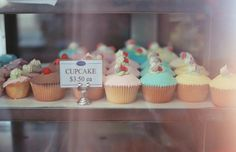 blue, bokeh, brown, cherry, clur, color, colorful, colourful, colours, contrast, cream, cupcakes, cute, desert, eat, food, icing, money, pink, pretty, red, small, vintage, white, window, yellow, yum