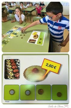 Esta semana hemos empezado a trabajar actividades con euros . Antes de empezar el tema correspondiente del libro de matemáticas, quise pres... Euro, Baseball Cards, Education, School, Maths, Social Science, Projects, Math Books, Fractions