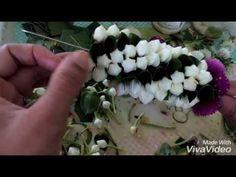 วิธีร้อยมาลัยดอกรัก และเกล้าผมเจ้าสาว How to make crown flower garland and easy wedding updo . - YouTube Flower Garland Wedding, Flower Garlands, Wedding Flowers, Real Flowers, Artificial Flowers, Tahitian Costumes, Rangoli Ideas, Pooja Rooms, Earring Tutorial