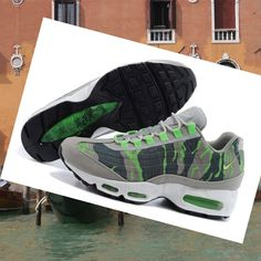 d4d4df59d9405 Nike Air Max 95 mens shoes Grey Green 2015 HOT SALE! HOT PRICE! Air