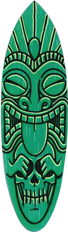 Green Tiki par Twisted Deek surfboard