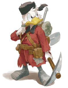 Young Scrooge Mcduck fanart from Don Rosa's comic The Life and Times of Scrooge McDuck. I wanna read this!!