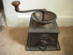 Antique T&C Clarke & Co Coffee Grinder - 1878 - Bruerton s 4 - Brass Hopper