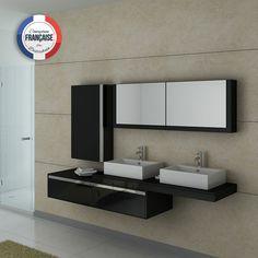 DIS9350GT Meuble salle de bain gris taupe | Meubles de salle de bain ...