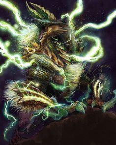 Monster Hunter [Fan Art] - (#mh #mh4 #mh4u #mh4g #mhx #monsterhunter #monsterhunter4 #monsterhunter4ultimate #monsterhunter4g #monsterhunterx #monsterhuntercross #zinogre #fan #art #fanart #drawing #3ds #3dsxl #2ds #nintendo #capcom) Internet problems almost gone ^w^