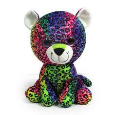 Ty Boos, Ty Beanie Boos, Beanie Babies, Rainbow Dog, Custom Printed Fabric, Pink Cat, Big Eyes, Kids Toys, Plush