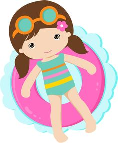 Pool Party Kids, Luau Party, Beach Party, Art Party, Seasonal Image, Summer Clipart, Kid N Teenagers, Clip Art, Cute Clipart