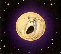 This moon made me yawn. It just made you yawn too. There you go.