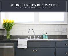 retro kitchen renovation, weekend kitchen renovation, cheap kitchen renovation