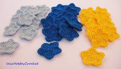 Crochet Little Stars, Crochet Appliques, Crochet Star Embellishments  - READY TO SHIP