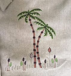 Linen Cotton Shirt Blouse Plus Size 3XL Button Front Palm Trees Safari Blair NWT #Blair #Shirtorblouse #Casual