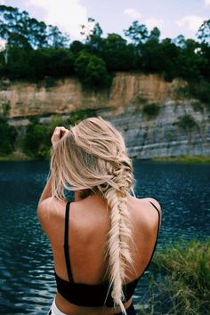 #messy #fishtail #braid #hairspiration