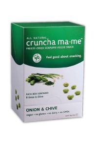 CRUNCHA MA-ME - satisfies those savory cravings the healthy way