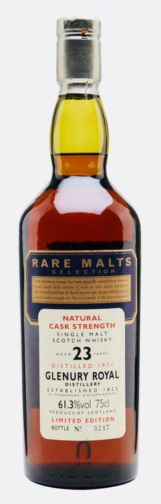 GLENURY ROYAL 1971 23 Year Old Rare Malts, Highlands