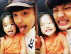 Se7en makes funny faces with his niece