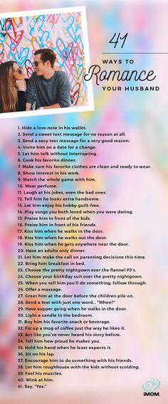 Romantic Ideas for Him - Show the Love! 41 Ways to Romance Your Ways to Romance Your Husband Healthy Marriage, Happy Marriage, Marriage Advice, Love And Marriage, Healthy Relationships, Funny Marriage, Dating Advice, Successful Marriage, Marriage Romance